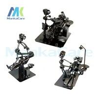 3 pcs/lot Metal Dentist Sculpture Crafts Artware Dentsit handicraft Dental clinic decoration furnishing articles