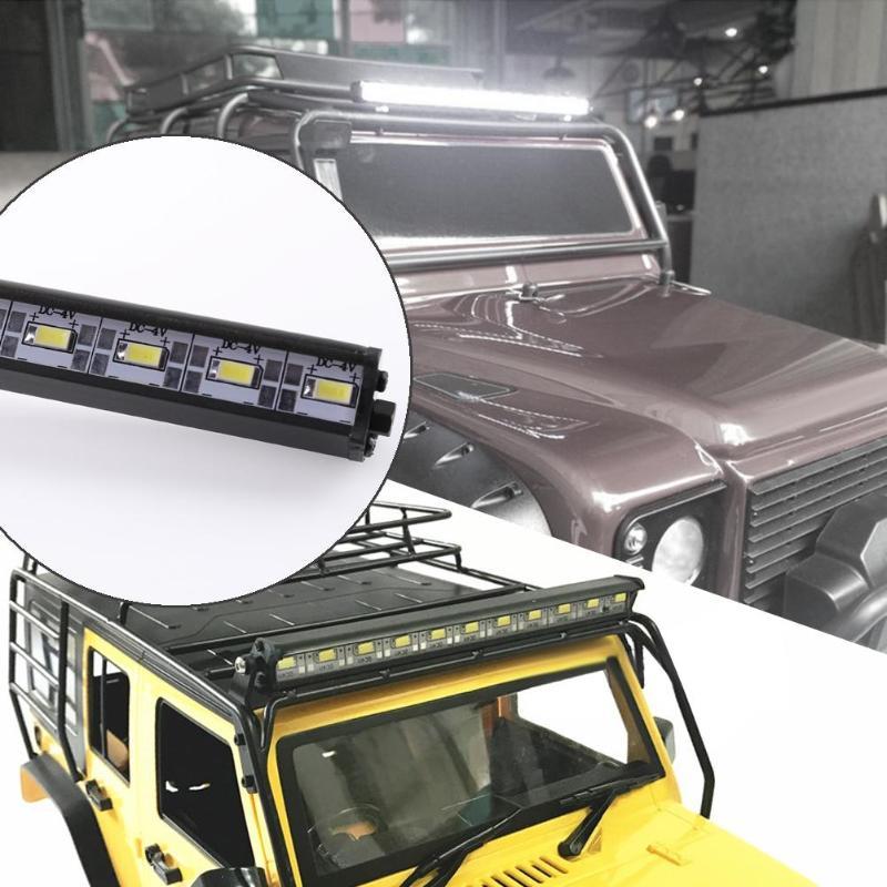 Metal LED Light Bar RC Car Roof Lamp for Traxxas Trx-4 Climbing Car Accessories Kids Toy Car Model Lighting Lamp
