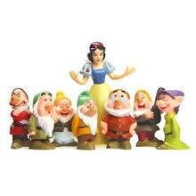 5-10 cm  set Branca de Neve e os sete anões 7 ornamentos modelo boneca brinquedos para crianças modelos de presente figura PVC