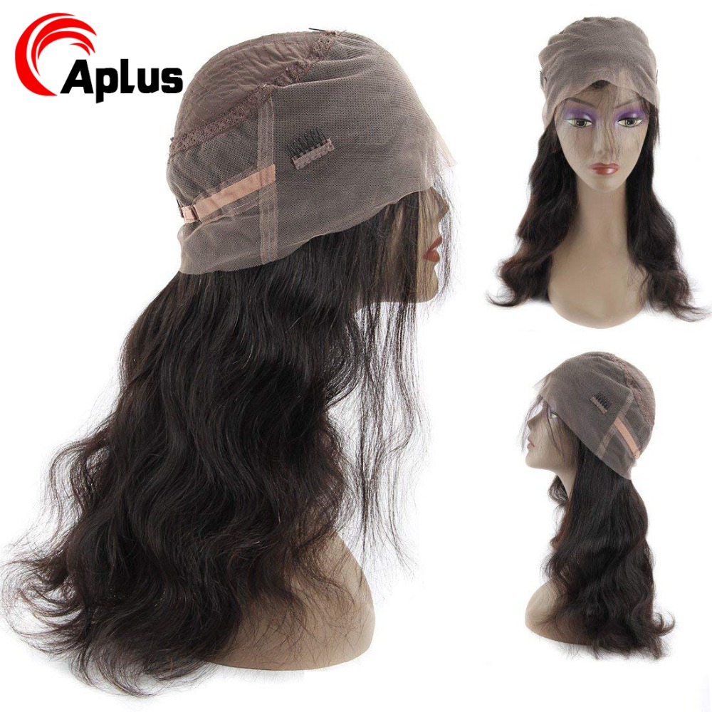 Aplus Hair Remy Brazilian Hair Wigs 360 Lace Frontal Wig With Baby Hair Body Wave Pre Plucked Lace Human Hair Wigs 150% Desity