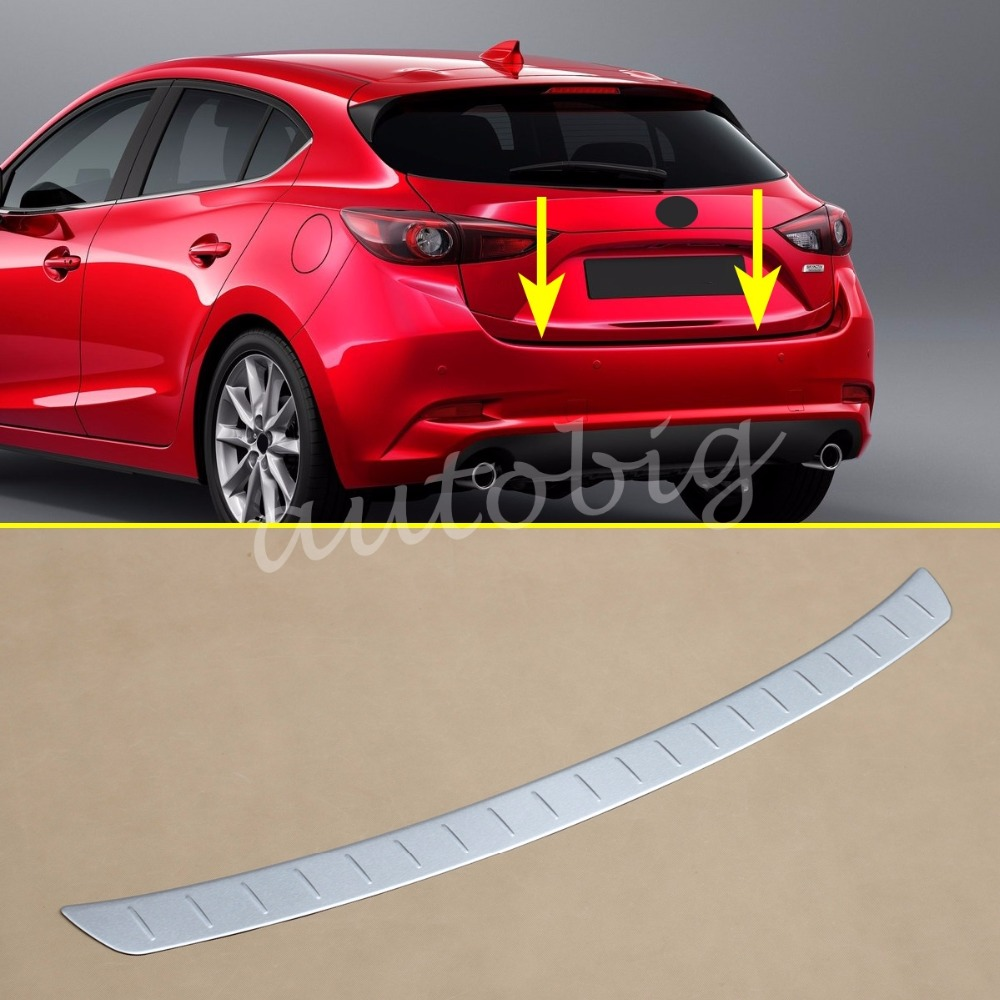 Stainless Steel Trunk Sill Rear Bumper Protector Cover For Mazda3 BN Hatchback 2017 2018 Fit Mazda