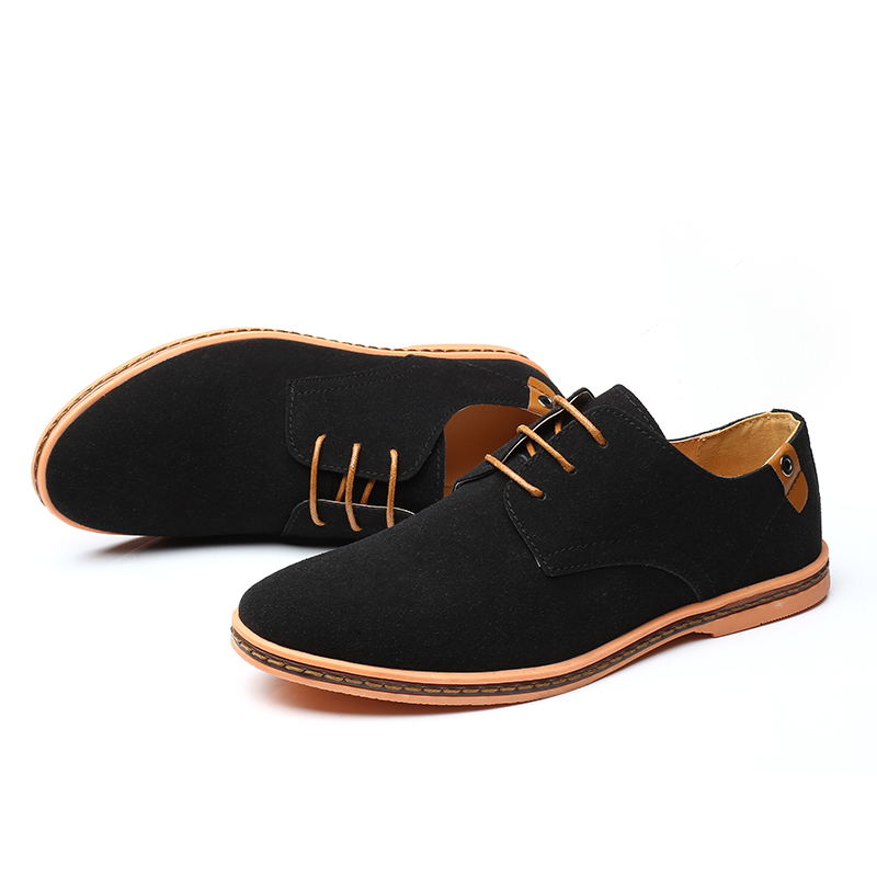 HTB1yeAGX.CF3KVjSZJnq6znHFXaS VESONAL Brand 2019 Spring Suede Leather Men Shoes Oxford Casual Classic Sneakers For Male Comfortable Footwear Big Size 38-46