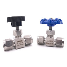 Needle Valve Kapal Gratis Adjustable 4 6 8 10 12 Mm 1/8 1/4 3/8 1/2 Inci Hard Tube SS304 Kas kontrol Derek Lurus Jarum Valve(China)