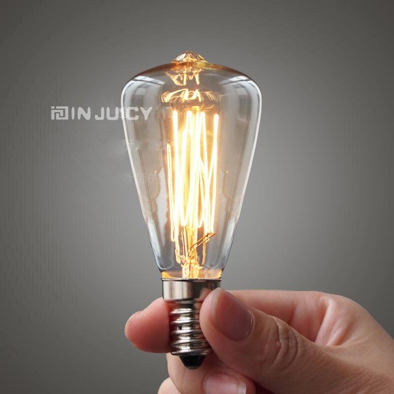 1 E14 Edison Bulb ST45 candle bulbs retro tungsten carbon filament light Crystal Chandelier 110V 120V - Golden lighting Online Store 409246 store