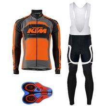 Cycling Jersey Sportswear KTM Pro Long Sleeve Bi Cycling MTB Bicycles Uniforms Clothes Cycling Man Bicycle Cycling Clothing Sets