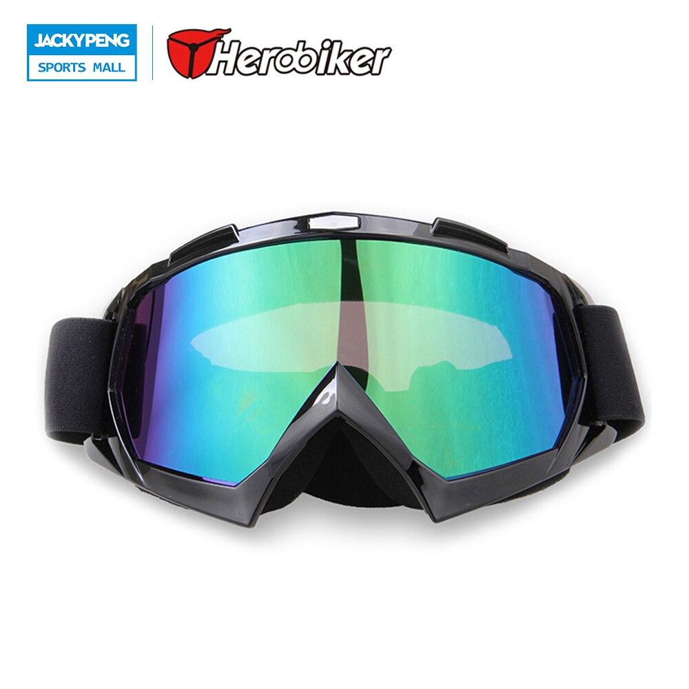 Herobiker Зимние Лыжные Сноуборд Снегоход Мотоцикл очки маска Байк Off-Road Очки очки черный Рамки Цвет T815-7
