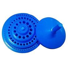 Hot 1pcs Round Shape Plastic Hard 100pcs 1-13mm Drill Bit Storage Case Blue