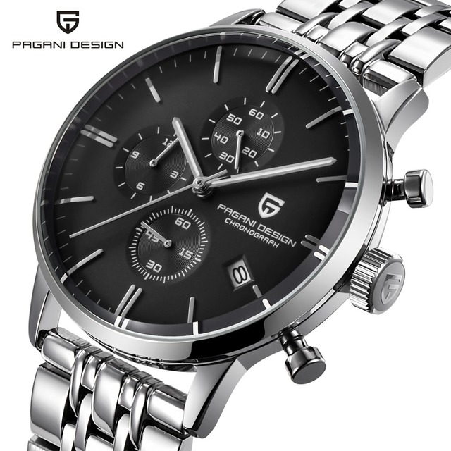 PAGANI design top luxury brand waterproof quartz watch mens stainless steel fashion clock sports mens watch Relogios Masculino