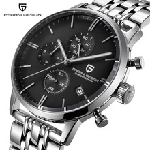 パガーニデザインのトップの高級ブランド防水クォーツ時計男性のステンレス鋼ファッション時計スポーツ男性の時計 Relogios Masculino