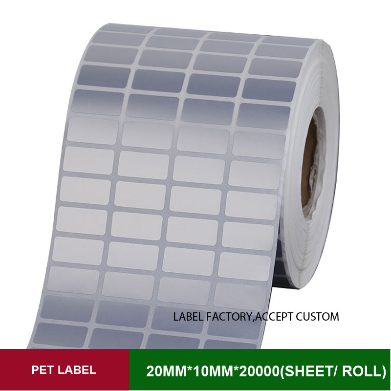 Quad row 20*10mm*10000sheets PET thermal transfer labels for the product mark of security, certification видеоигра бука saints row iv re elected