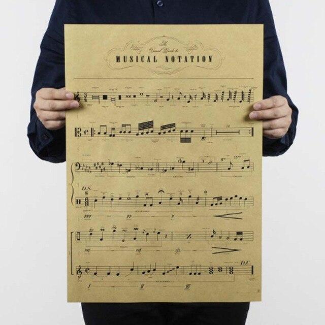 Affiche vintage notes de misique