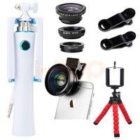 Mới nhất Mini Tripod Máy Ảnh Lens Kit HD 0.45X Góc Siêu Rộng Macro ống kính Fisheye Lentes Ảnh Tự Sướng Thanh Đối Với Huawei P9 P10 MATE 8 9