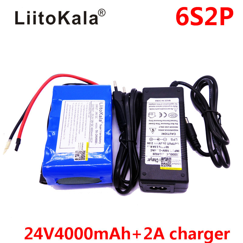 HK LiitoKala Dii-24V4000 25.2V 4000mAh 18650 Battery pack 24V 4Ah Rechargeable Battery Mini Portable Charger For LED/Lamp/Camera liitokala 2pcs li ion 18650 3 7v 2600mah batteries rechargeable battery with portable battery box and 2 slots usb smart charger