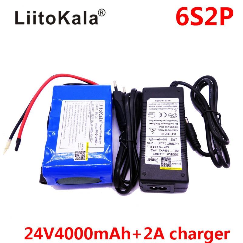 HK LiitoKala Dii-24V4000 25.2V 4000mAh 18650 Battery pack 24V 4Ah Rechargeable Battery Mini Portable Charger For LED/Lamp/Camera