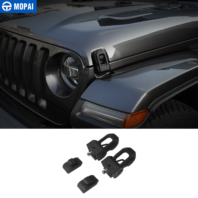 MOPAI ABS Car Engine Lock Hood Latch Lock Catch Decoration Cover Car Accessories for Jeep Wrangler JL 2018 Up Car StylingMOPAI ABS Car Engine Lock Hood Latch Lock Catch Decoration Cover Car Accessories for Jeep Wrangler JL 2018 Up Car Styling