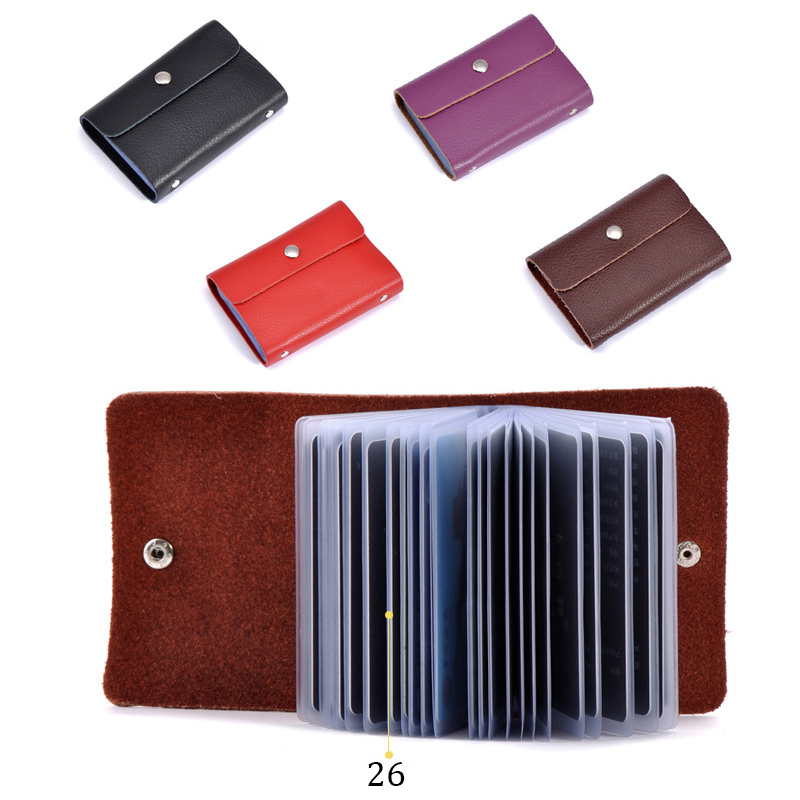 High quality split leather hasp big capacity 23 cards ID card ...