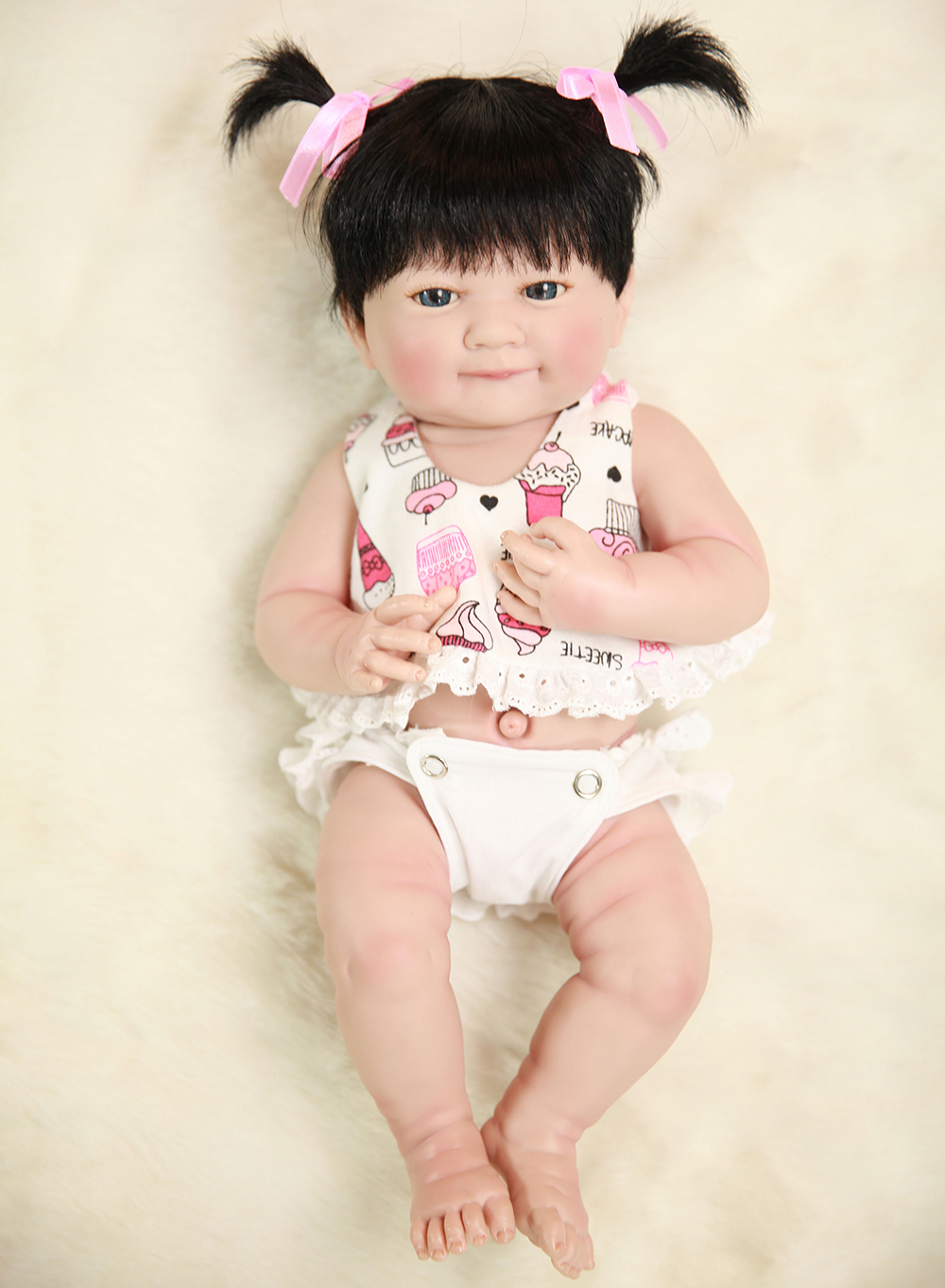 Cute Baby Alive Body Silicone Reborn Girl Dolls Toys for Children Girls Boys House Play Bedtime Doll Toys Birthday Gifts Toys new kitchen tableware doll accessories for barbie dolls toys girls baby play house toys