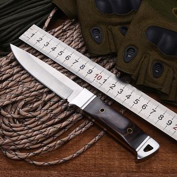 BGT K90 Camping prosty nóż z drewnianym uchwytem Outdoor polowanie taktyczne Survival Combat noże z zamocowanym na stałe ostrzem narzędzia edc tanie i dobre opinie BGT Full Tang Fixed Straight Knife Fixed blade knife Drewna BGT B Maszyny do obróbki drewna 3Cr13Mov 198mm 100mm 23mm 180g (including packaging)