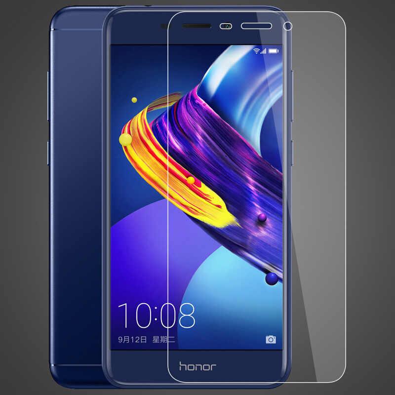 Tela de Vidro temperado Para Huawei Honor 6C Pro temperado em Honra do smartphone protetora V9 play tampa traseira