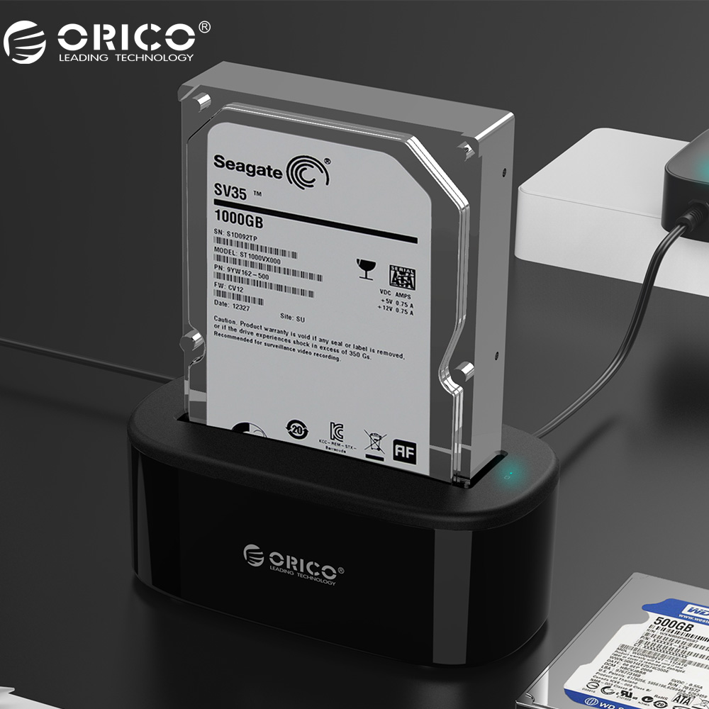 ORICO USAP HDD Docking Station 5 Gbps Super Speed USB 3.0 a SATA Hard Drive Docking Station per 2.5 ''/3.5