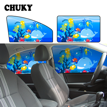 CHUKY Sunshade Curtain Magnetic Side Window Curtain Baby Shade Stickers For BMW E90 E60 E34 Audi a5 q5 q7 Mitsubishi ASX Volvo image