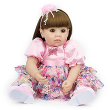 girls doll reborn bebe Long haired Princess babies reborn dolls Soft Silicone Lifelike toys Girl XMAS Gift new silicone reborn dolls realistic natural babies toys for girls lifelike reborn babies birthday gift blue princess doll