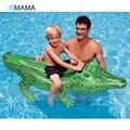 Crocodilo PVC Linha Flutuante Assento Flutuante de Água Das Crianças Verão Natação Brinquedos Água Criança Piscina Inflável Gigante