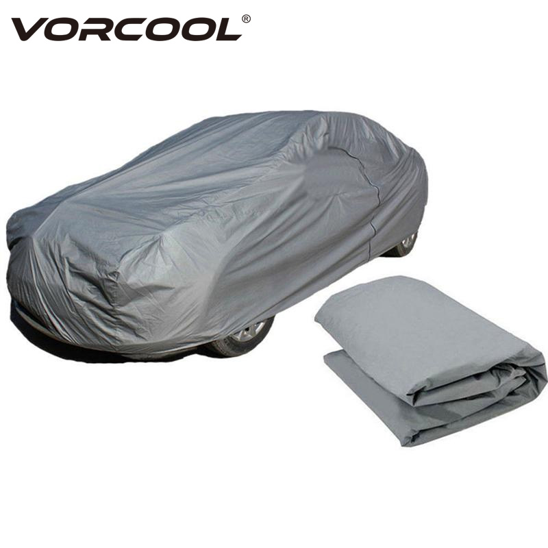 VORCOOL 1 Pcs Waterproof Car Cover Practical Durable Car Protection Accessories Car Shade Car Clothes for Dust Scratch Rain Snow commercial vegetable slicer onion slicing machine electric vegetable potatoes cutter carrots cutting machine 660 type