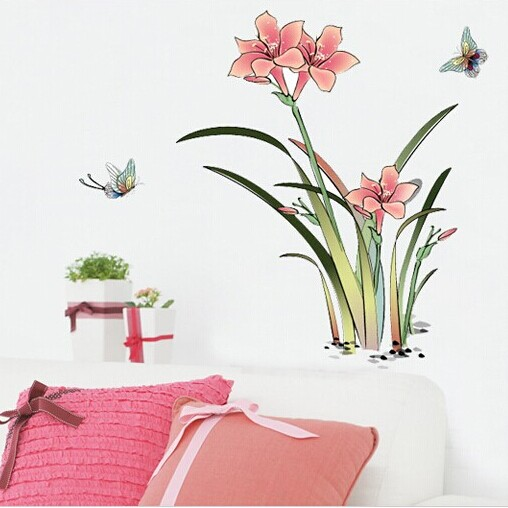 Kinder Süße Schlafzimmer Wohnzimmer Sofa Tv Einstellung Glas Dekorative Wandbilder Adhesive Aufkleber Landschaft Student Gel Aufkleber Weniger Teuer