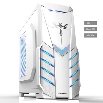 2018 Hot ATX Gaming Computer Case PC gaming PC tower computer box Micro-ATX  ITX transparent panel side for PC gamer enclosure