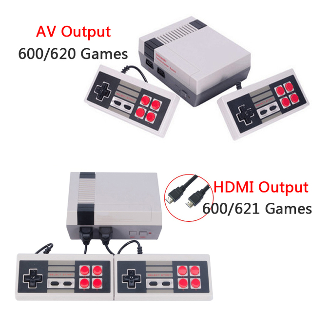 HDMI/AV Output Mini TV Handheld Game Console Video Game Console with 600/620 games Built-in for 4K TV PAL & NTSC Dropshipping