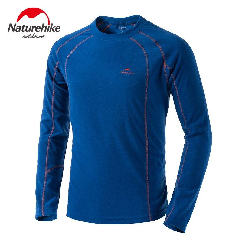 Naturehike Mens Thermal Undershirt Winter Thickened Base Layer Polar Sport Fleece Sweat Thermo Men Clothing Underwear T-shirt