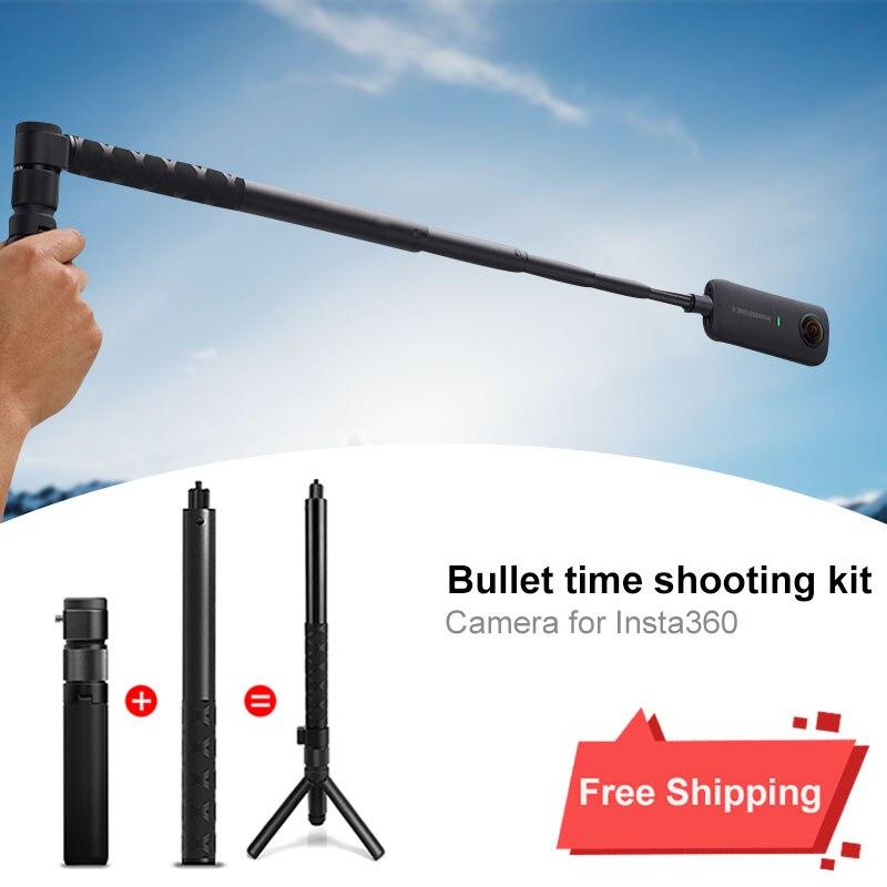 Handheld Monopé Selfie Stick & Pega 1/4 Parafuso para Câmera para Insta360 Paranomic Insta360 ONE X VR Câmera de Esportes|Acessórios para câmera de vídeo 360º| |  - title=