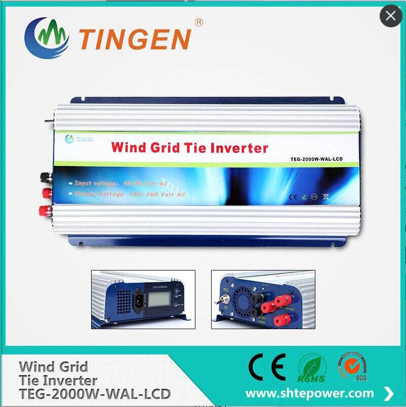 2000w 48v ac to 220v ac wind grid tie inverter for wind generation,pure sine wave inverter 2000w 2000w grid tie inverter with dump load for 3 phase ac wind turbine grid tie inverter 45 90v input lcd pure sine wave new