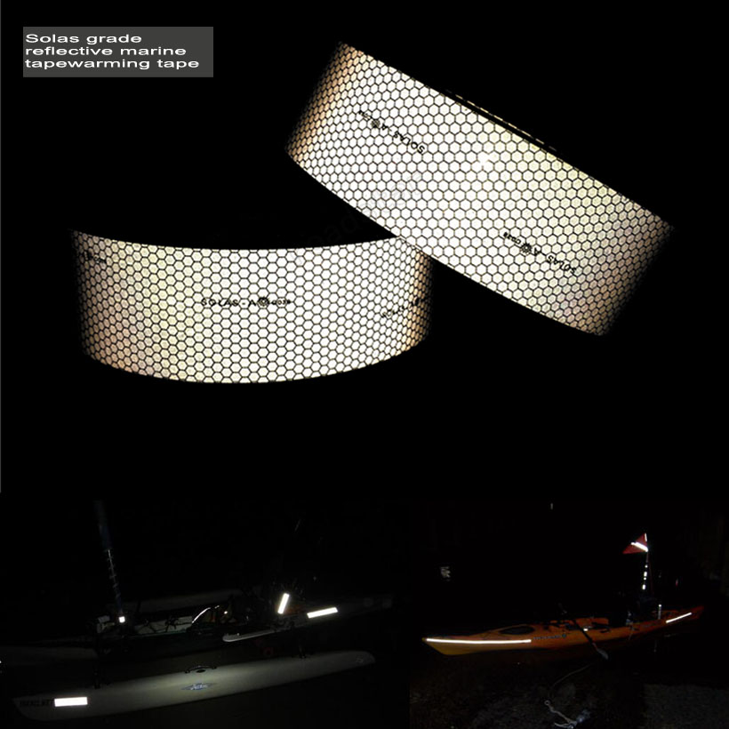 5cm X 10m Anti-friction solas grade safety maritime reflective tape  Free shipping