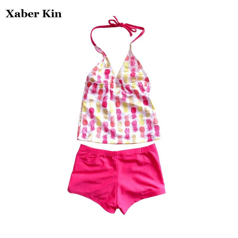 Bescheiden Mädchen Bademode Sommer Badeanzug Neue 2017 Badeanzug Für Große Mädchen Tankini Kinder Kinder Plus Größe Bikini Sets G1-sw614