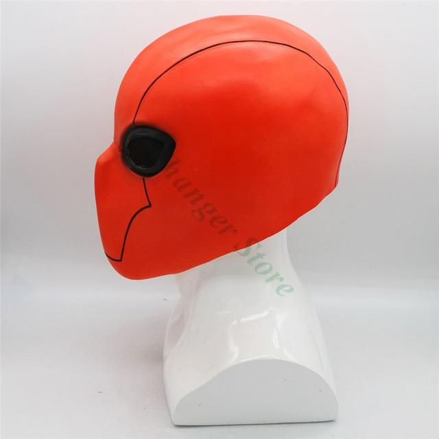 Маска для косплея из латекса с красным капюшоном
