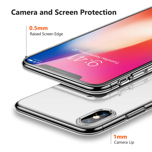 Luxury Case For iPhone Ultra Thin Slim Soft TPU Silicone Cover Case 3