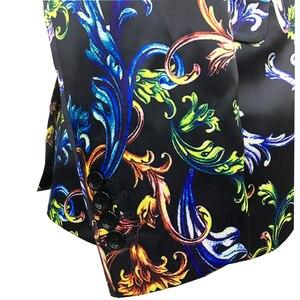Image 4 - تصميم جديد زهرة الموضة برونت الرجال سترة تناسب ضئيلة فستان الزفاف سهرة العريس حفلة موسيقية بدلة السترة