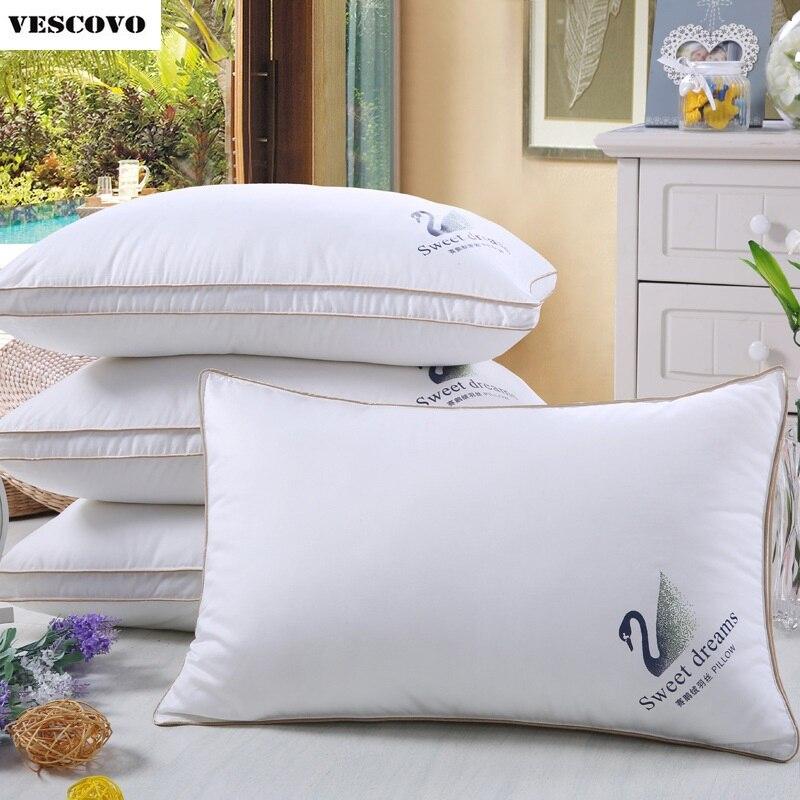 Biały puch gęsi poduszka z pierzem bawełna pokrywa pięciogwiazdkowy hotel poduszki dorosłych pojedyncze w Poduszki pościelowe od Dom i ogród na  Grupa 1