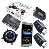 Автомобильная сигнализация безопасности системы с мобильным приложением управление Авто Кнопка запуска и остановки gps онлайн в режиме реа