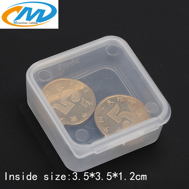 Free Shipping Transparent Plastic Small Square Boxes Packaging Storage Box  With Lid Small Products Accessories Finishing