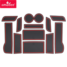smabee Gate slot pad mats For HONDA 2014-2016 ACCORD 9 Interior Door Pad/Cup red/blue/white 12 pcs
