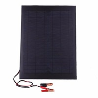 18W 12V Black Foldable Polycrystalline Solar Panel Outdoor Travel Camping Battery Charger Charging DIY 47 8