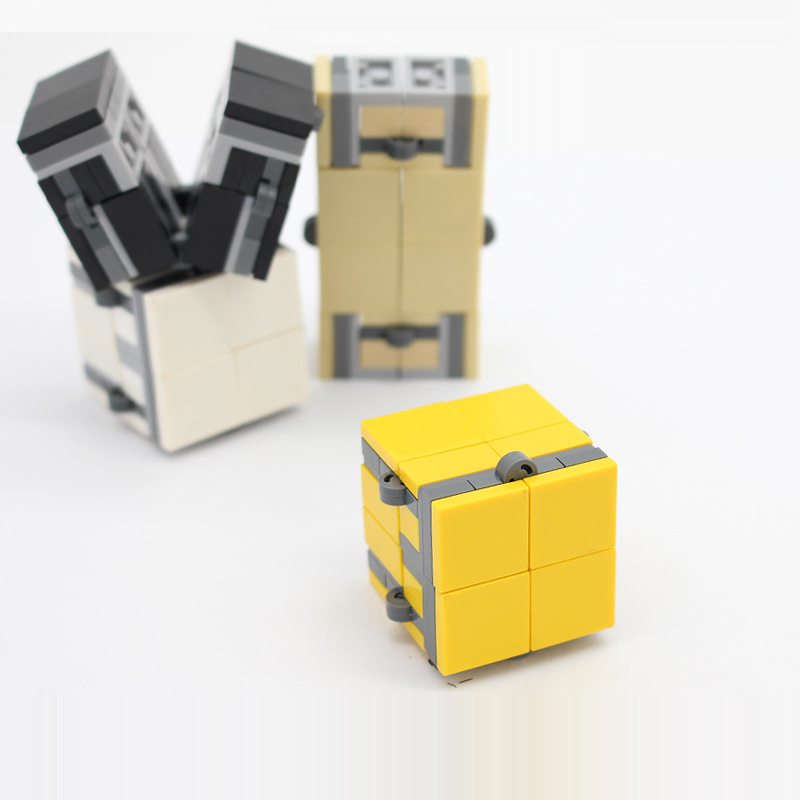 2set/lot Decompression Building Blocks Infinity Cube Toys Time-limited 64pcs Cube Unlimited Transforming Brick Cube Blocks