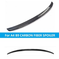 Carbon Fiber S Style Spoiler for Audi A4 B9 Car Styling Accessories