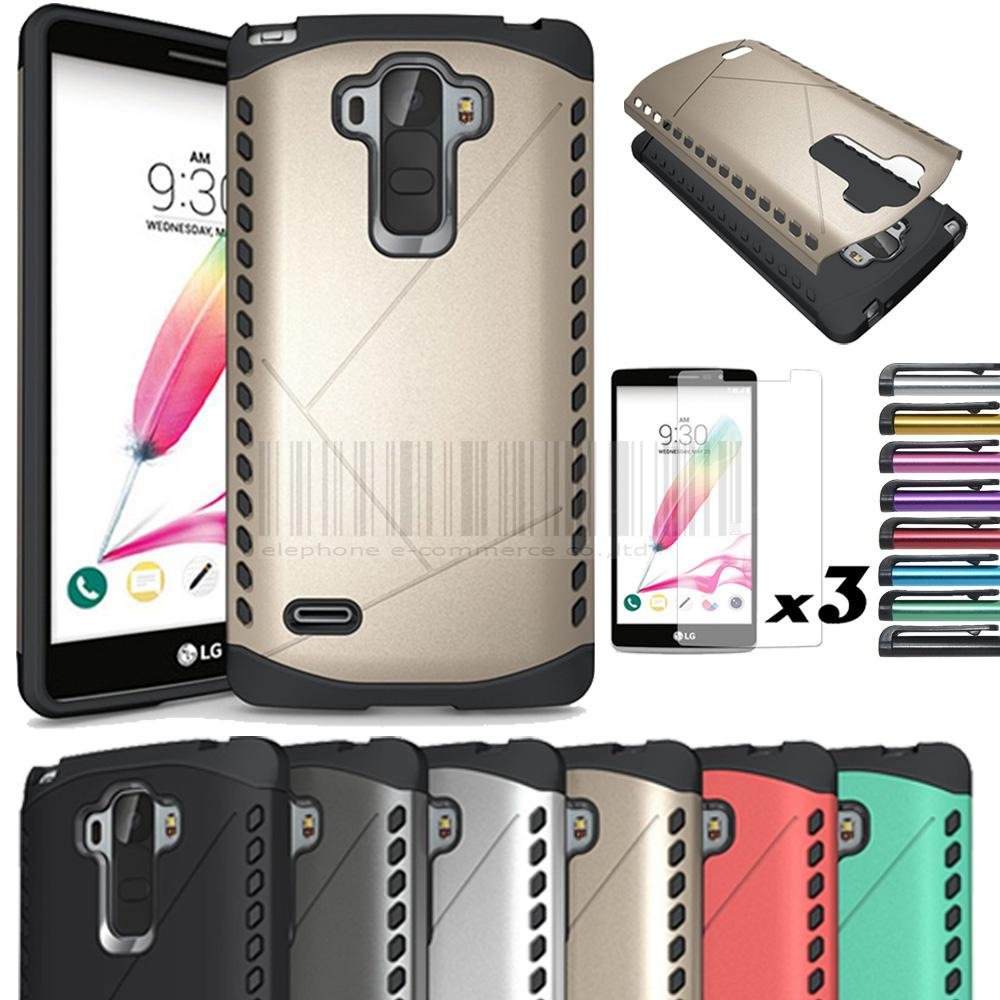 Heavy Duty Armor Rugged Shield Case Shockproof Impact Hard Cover For LG G Stylo LS770 G4 STYLUS NOTENOT