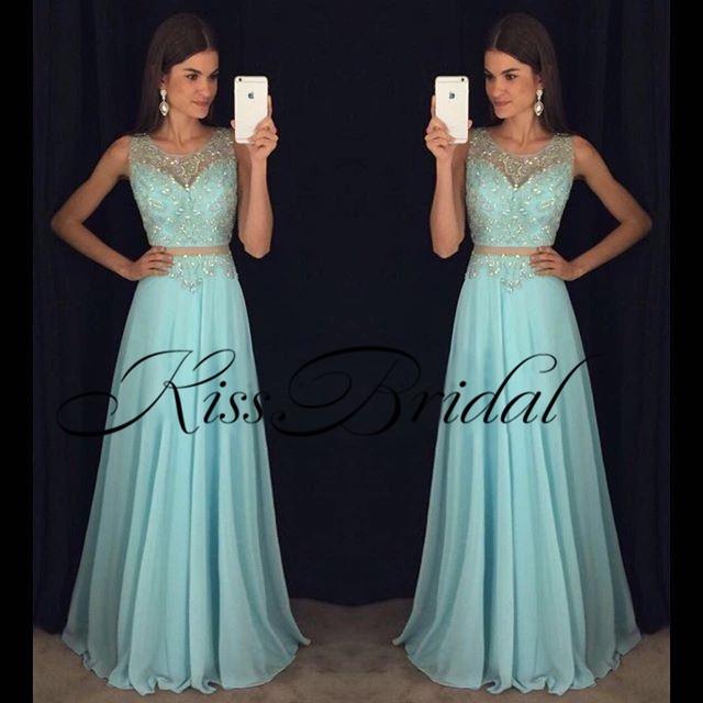 Gorgeous New Long Prom Dresses 2019 O-Neck Sleeveless Floor Length A-Line Beading Chiffon Evening Dresses Robe De Soriee