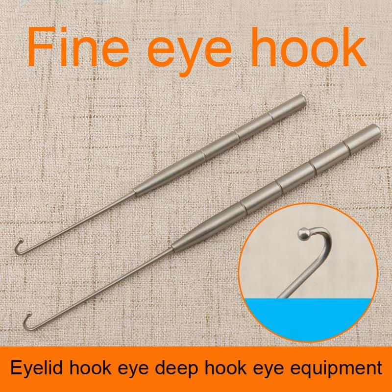 Eyelid hook eye deep hook eye equipment high quality stainless steel sclera hook single head double claw question mark retractor