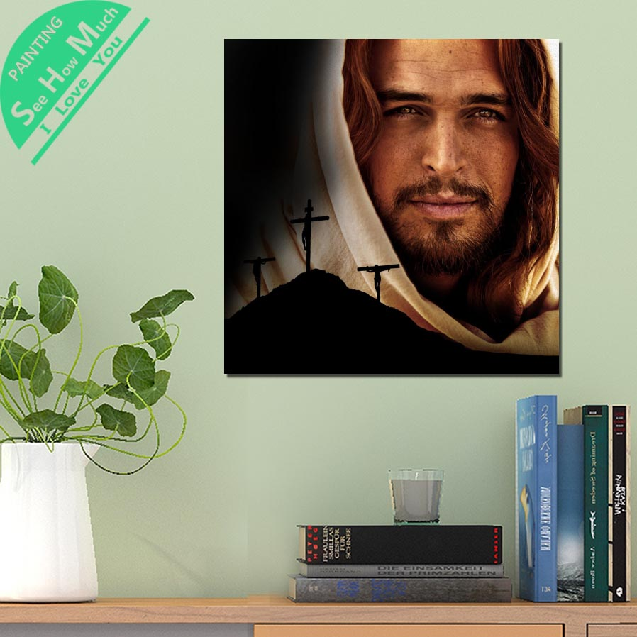 дешево!  1 Шт. Крест Христианство Иисус HD Печатных Холст Wall Art Плакаты и Принты Плакат Живопись  Лучший!